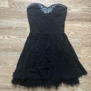 Free People Black Lace Beaded Dress